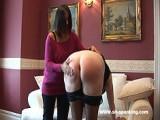 Curvy brunette spanked