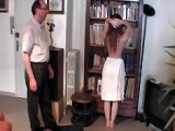 Spanked fully naked