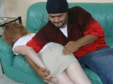 Short skirted cutie spanked heavy
