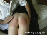 Undressed hand smacking