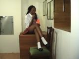 Ebon Schoolgirl Slapping